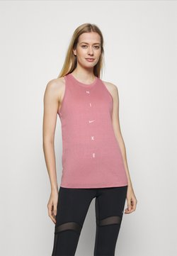 Nike Performance - DRY TANK GET FIT - Sports shirt - desert berry