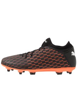 Puma - FUTURE 6.4 FG/AG - Moulded stud football boots - black/white/orange