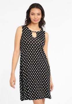 LASCANA - Freizeitkleid - schwarz-weiß-gepunktet