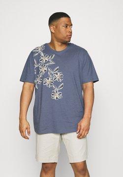 Jack & Jones - JPRBLAGOA PLACEMENT TEE  - T-shirt imprimé - atlantic blue