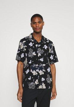 Calvin Klein Tailored - SHORT SLEEVE FLOWER PRINT  - Hemd - print / black