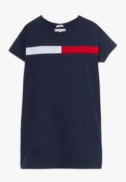 Tommy Hilfiger - FLAG DRESS  - Jerseykleid - blue