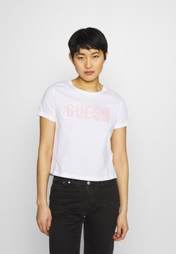 Guess - ADRIA TEE - Camiseta estampada - true white