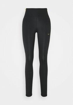 Nike Performance - ONE COLORBLOCK - Tights - black/metallic gold