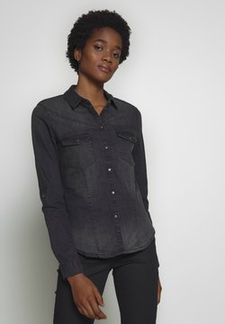 Noisy May - NMDILEM SLIM - Skjorta - black denim