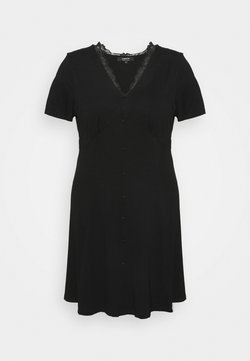 Simply Be - BUTTON THROUGH TEA DRESS - Robe en jersey - black