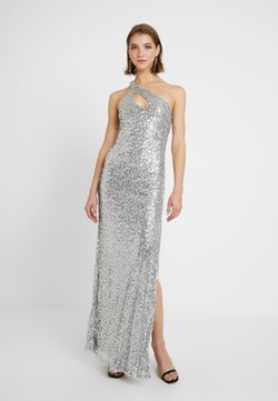 Nly by Nelly - ONE SHOULDER SPARKLING GOWN - Festklänning - silver