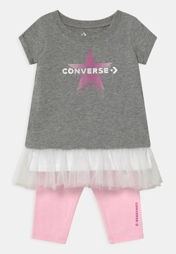 Converse - GRAPHIC CAPRI SET  - Leggings - Hosen - grey heather