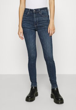 American Eagle - SUPER HIGH RISE - Slim fit jeans - night time navy