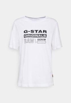 G-Star - ORIGINALS LABEL REGULAR R T - Print T-shirt - white