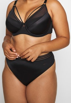 Ashley Graham Lingerie by Addition Elle - ESSENTIAL THONG - Perizoma - black