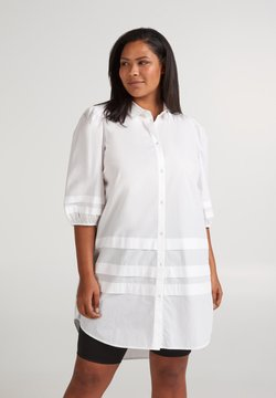 Zizzi - Vestido camisero - off-white