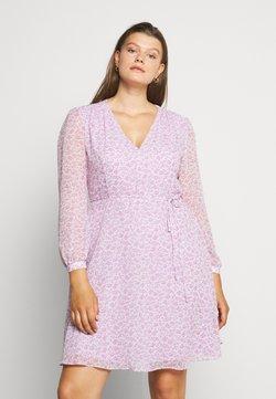 Glamorous Curve - SHEER LONGSLEEVE DRESS - Freizeitkleid - lilac lavender
