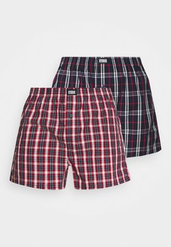 Urban Classics - WOVEN PLAID DOUBLE 2 PACK - Boxershorts - red/navy