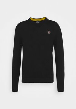 PS Paul Smith - MENS CREW NECK ZEBRA - Strickpullover - black