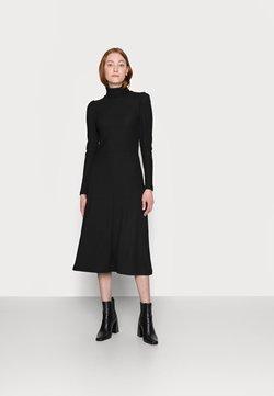 ONLY Tall - ONLNELLA ROLL NECK DRESS - Vestido de punto - black