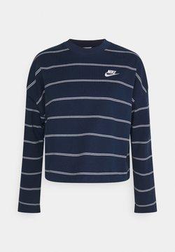 Nike Sportswear - STRIPE - Strickpullover - midnight navy/white