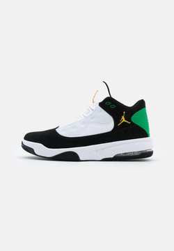 Jordan - MAX AURA 2 - Korkeavartiset tennarit - black/dark sulfur/white/lucky green