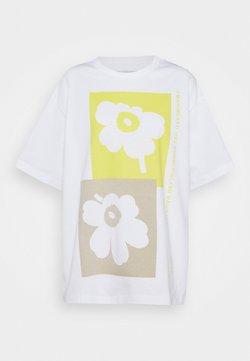 Marimekko - CREATED OHJE KIVET - T-Shirt print - off-white/yellow/beige