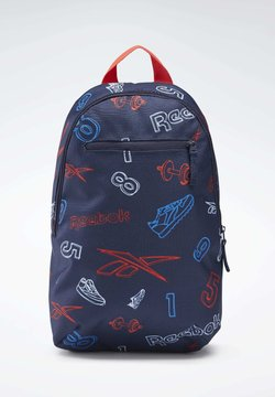 Reebok Classic - ALLOVER PRINT BACKPACK SMALL - Reppu - blue