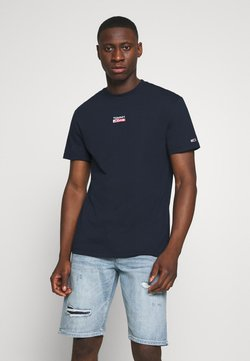 Tommy Jeans - SMALL CENTERED LOGO TEE - Printtipaita - twilight navy