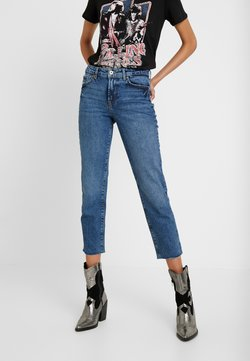PIECES Tall - PCHOLLY - Straight leg jeans - medium blue denim