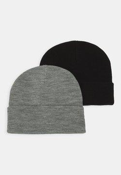 Vero Moda - VMMARAN BEANIE 2 PACK - Bonnet - black/light grey melange