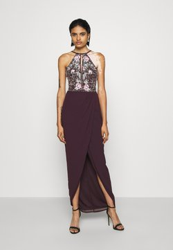Lace & Beads - MAXI - Ballkleid - burgundy