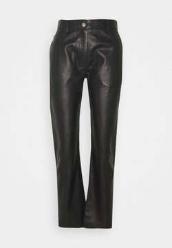 House of Dagmar - NAOKO - Leather trousers - black