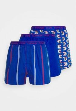 Calvin Klein Underwear - SLIM 3 PACK - Boxershorts - blue