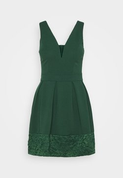 WAL G. - NADIA VPLUNGE NECK SKATER DRESS - Cocktail dress / Party dress - forest green