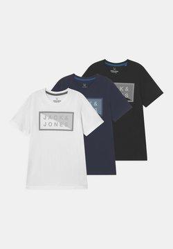 Jack & Jones Junior - JCOSHAWN CREW NECK 3 PACK - T-Shirt print - navy blazer