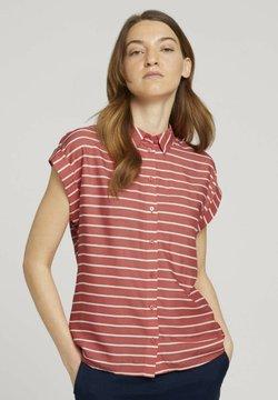 TOM TAILOR - Hemdbluse - red offwhite stripe