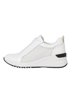 Tamaris - SLIP-ON - Sneaker low - wht/blk/gold