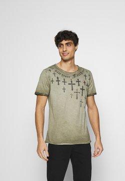 Key Largo - SIN CITY ROUND - T-shirt print - military green