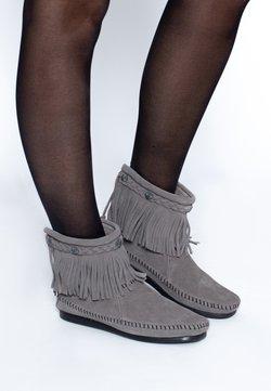 Minnetonka - HI TOP BACK ZIP ANKLE BOOT - Stiefelette - grey