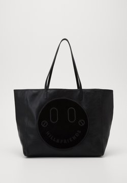 Hill & Friends - HAPPY SLOUCHY TOTE - Shopping Bag - black