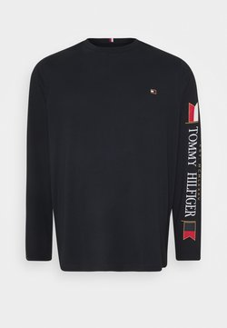 Tommy Hilfiger - MIRRORED FLAGS LONG SLEEVE - T-shirt à manches longues - blue