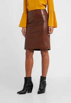 STUDIO ID - HANNA PENCIL SKIRT - Kokerrok - brown