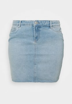 Vero Moda Curve - VMFAITH SHORT SKIRT MIX - Minirock - light blue denim