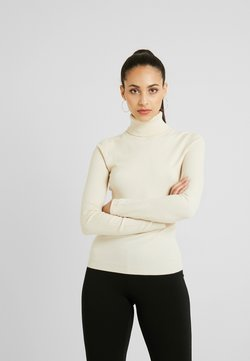 Vero Moda Tall - VMHAPPY BASIC ROLLNECK BLOUSEBOO - Stickad tröja - birch