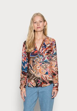 Emily van den Bergh - BLOUSE - Bluse - brown/blue/ orange