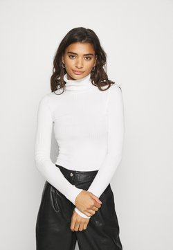 Even&Odd - BASIC- RIBBED TURTLE NECK - Strickpullover - white
