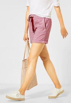 Street One - MIT STREIFEN - Shorts - rot