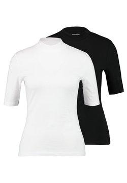 Even&Odd Tall - 2PACK - Basic T-shirt - white/black