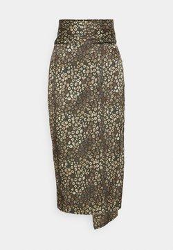 Never Fully Dressed Petite - LEOPARD JASPRE SKIRT - Jupe crayon - khaki