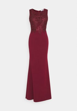WAL G. - DAISY EMBELLISHED MAXI DRESS - Occasion wear - wine