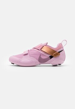 Nike Performance - SUPERREP CYCLE - Fahrradschuh - light arctic pink/black/metallic copper/hyper crimson