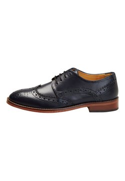 Next - TAN LEATHER BROGUES (OLDER) - Oksfordki - blue