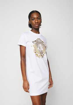 Versace Jeans Couture - DRESS - Vestido ligero - optical white/gold